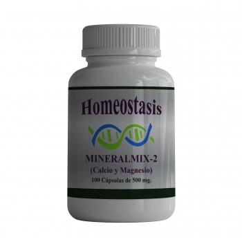 Mineral Mix-2 (Calcio y Magnesio). 100 Cápsulas de 500 mg.