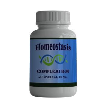 Complejo B-50; 60 Cápsulas de 500 mg.