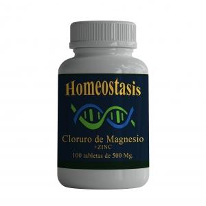 Cloruro de Magnesio. 100 Cápsulas de 500 mg.