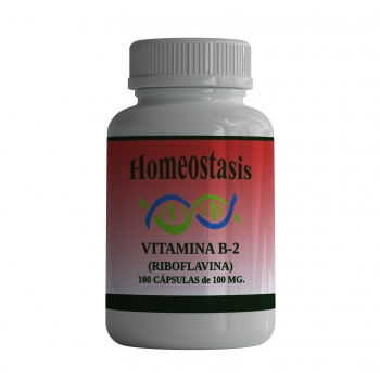 Vitamina B-2 (Riboflavina) 100 Cápsulas  de 100 mg.